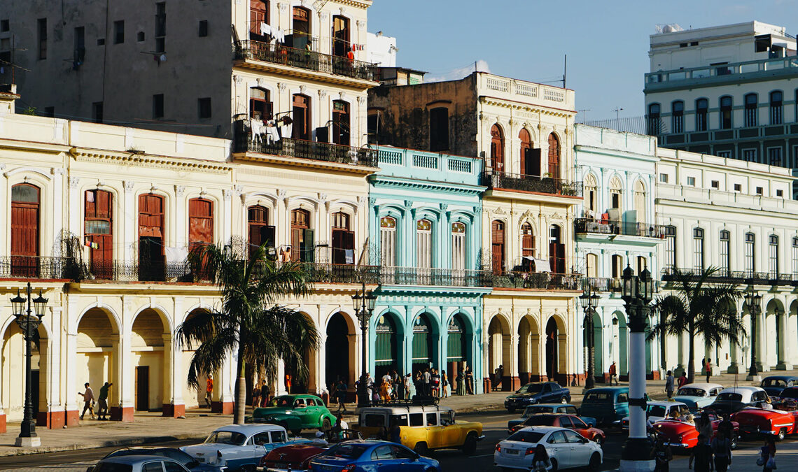 Cars parked in front of buildings during the daytime in Havana, Cuba