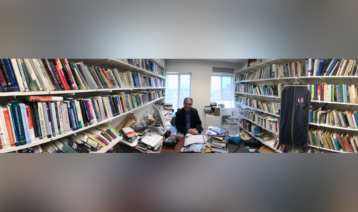 Peter Gourevitch at his desk
