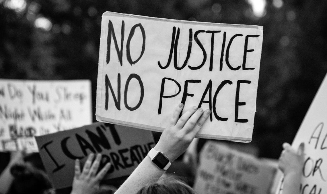 Sign at a Black Lives Matter protest